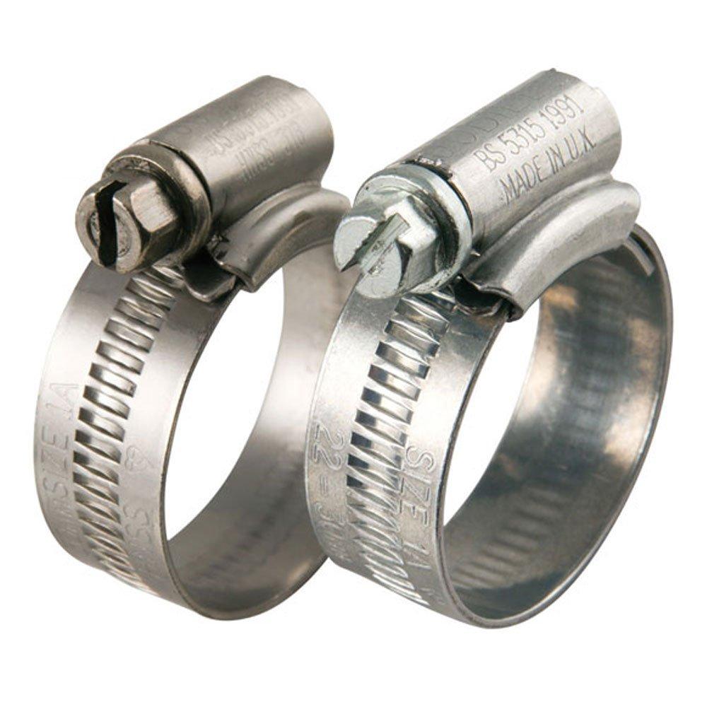 3 x 32mm - 45mm Jubilee Zinc Plated Worm Drive Hose Clips