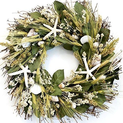 nantucket starfish beach wreath - Beach Christmas Wreath