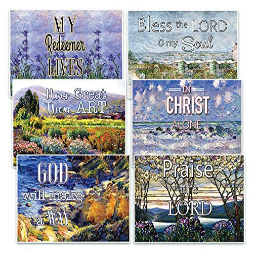 Easter Postcard (Christian Bible Verse Postcards Cards - In Christ Alone (30-Pack) Christian Bible Theme Collection & Gift with Inspirational, Motivational, Encouraging Scripture based Messages)