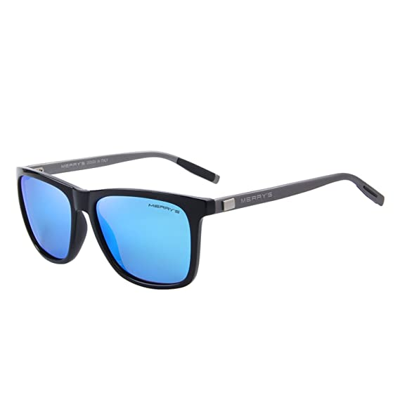 f29046b4807 MERRY s Unisex Polarized Aluminum Sunglasses Vintage Sun Glasses For Men Women  S8286 (Blue  Amazon.in  Clothing   Accessories