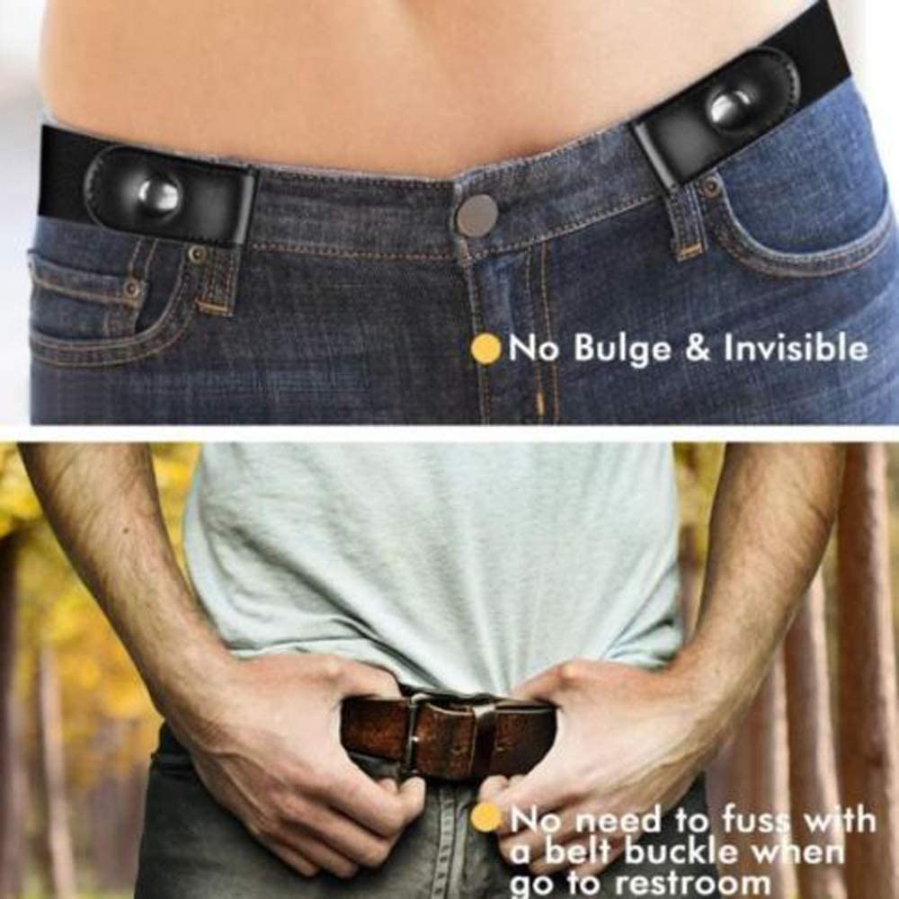 Amaping Buckle-Free Comfortable Elastic Belt for Men and Women Invisible Belt for Jeans No Bulge Hassle