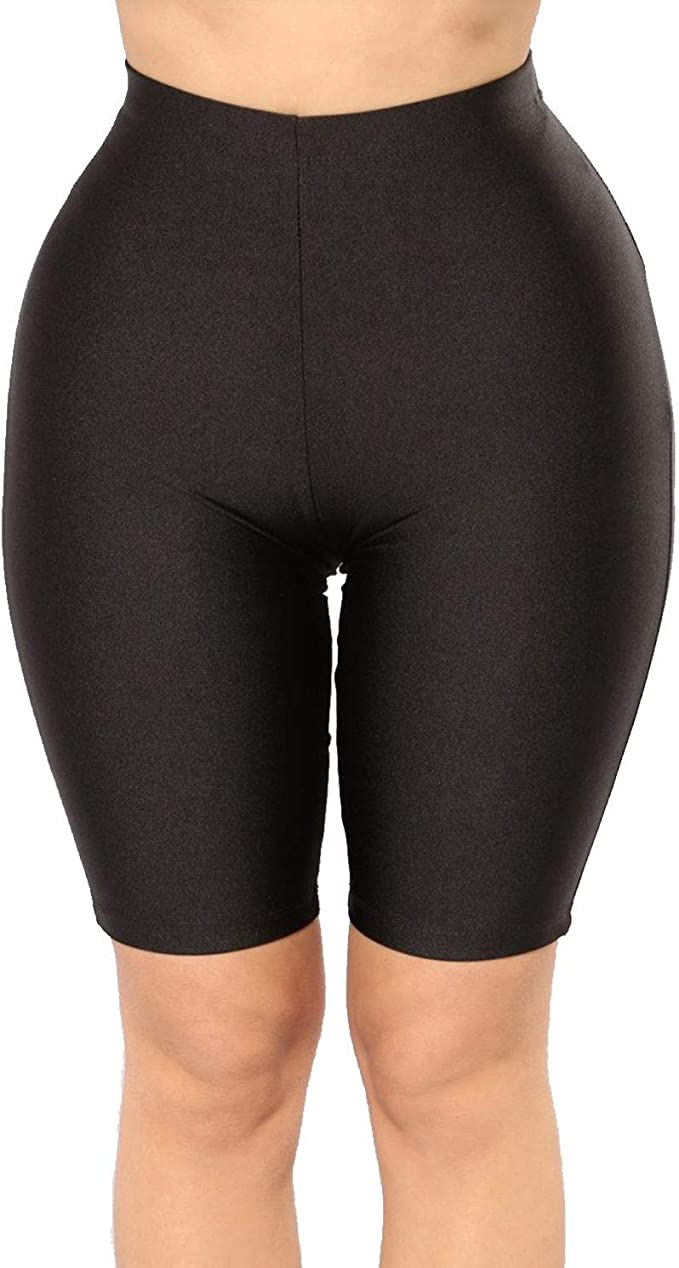 PESION Womens Active Biker Yoga Shorts/Pants, Sexy Spandex Boyshort