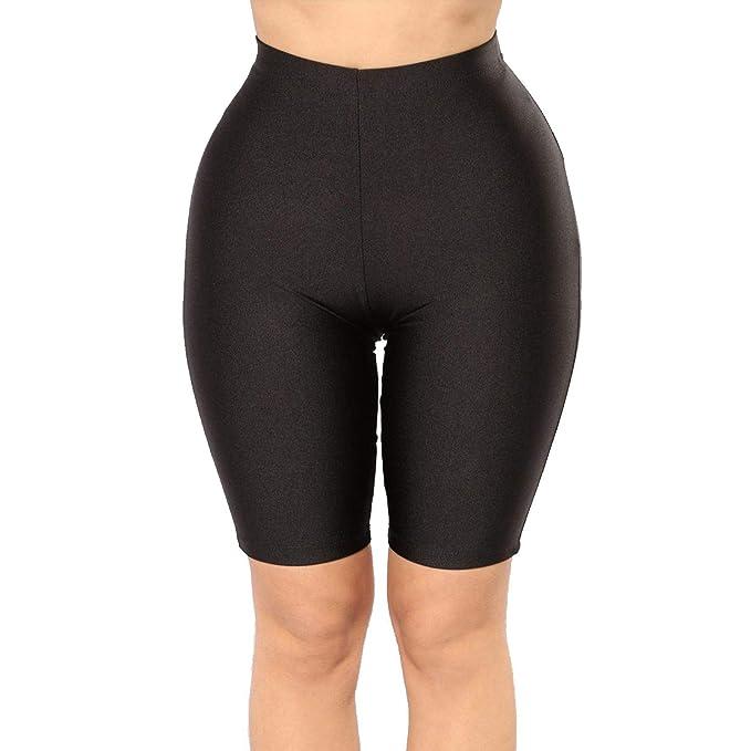 Amazon.com: PESION Pantalones cortos de yoga para mujer, de ...