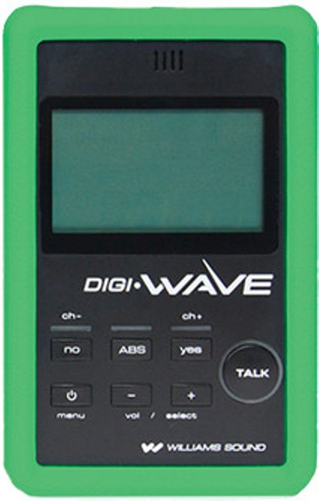 Williams Sound CCS 044 GN Silicone Skin, Green For use with DLT 100 2.0 Digi-Wave Digital Transceiver, Includes Lanyard and Wrist Strap, Size 4-3⁄8'' x 2-3⁄4'' x 1⁄2''