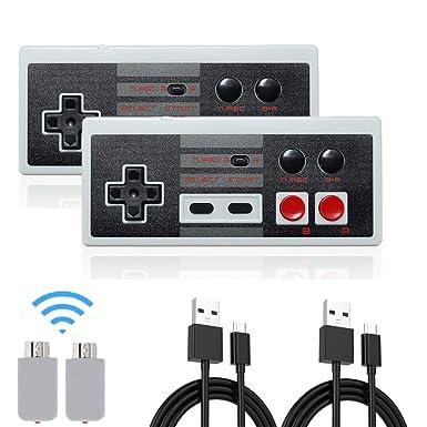 Wireless NES Mini Classic wiederaufladbarer Controller, NES Wireless Gamepad für Nintendo Mini NES Classic Edition, Wireless