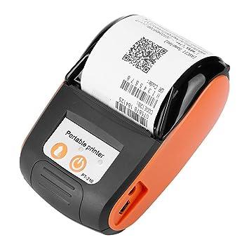 Marysa Impresora De Recibos Termica Inalambrica Bluetooth Mini Portable 58mm, Impresora De Recibos con Alta Velocidad De Impresion Impresora POS Movil ...