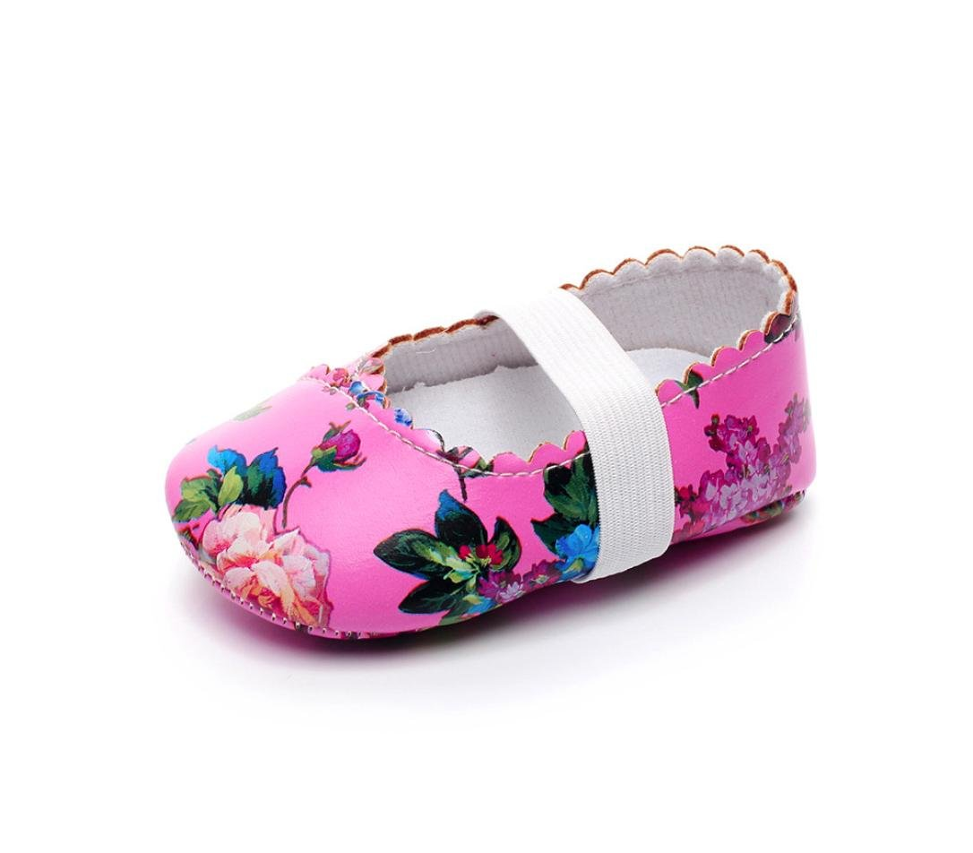 Memela Baby Girls Slip On Shoes Soft Sole Toddler Moccasins First Walking Leather Sneakers Purple, 6 Months