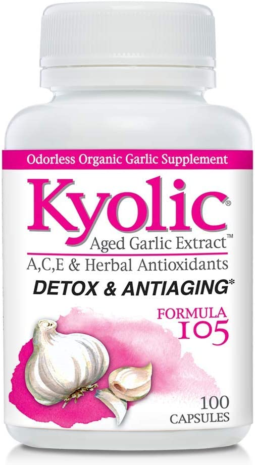 Kyolic Formula 105 Aged Garlic Extract Detox and Anti-Aging (100-Capsules): Health & Personal Care