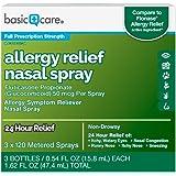 Amazon Basic Care Allergy Relief Nasal Spray, Fluticasone Propionate (Glucocorticoid), 50 mcg Per Spray, 1.62 Fluid
