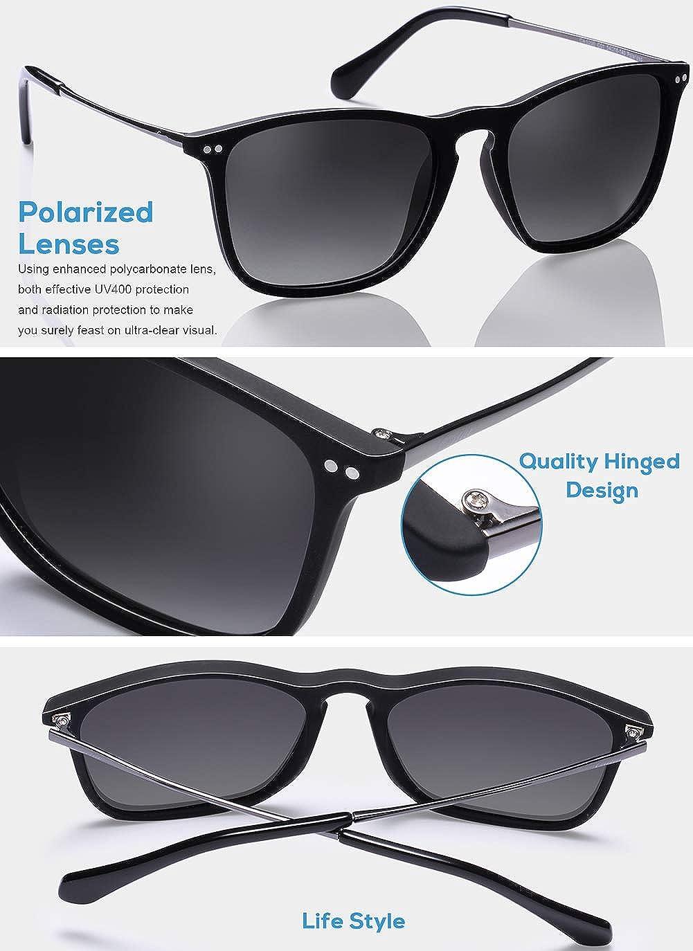 Carfia Gafas de Sol Hombre Mujer UV400 Protecci/ón Gafas de Sol Polarizadas