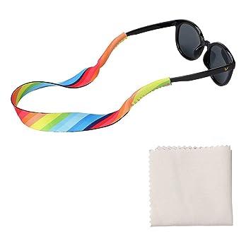 TAGVO Gafas de sol de neopreno Holder Strap 3 Pack con paños ...