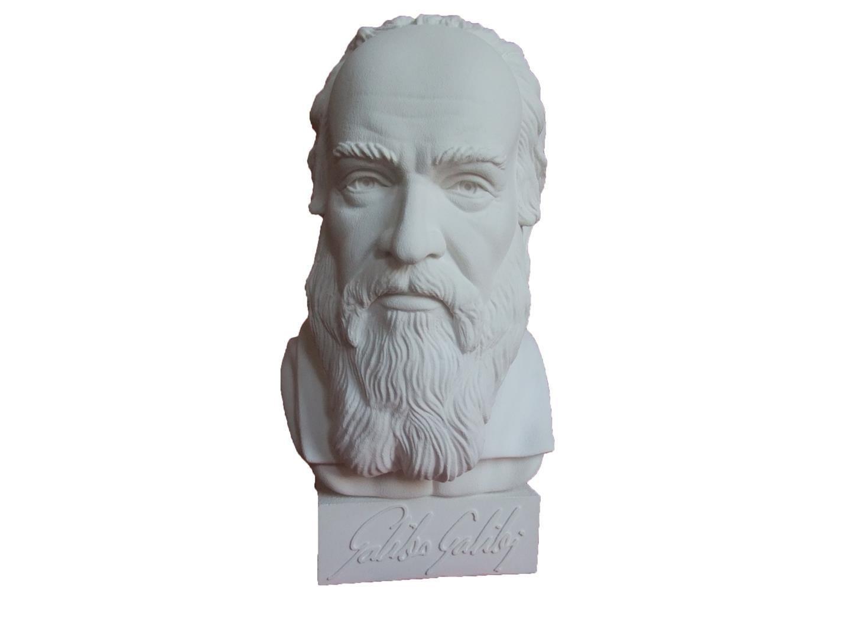 Gipsnich Büste Galileo Galilei groß
