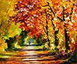Sunny Path is a Limited Edition print from the Edition of 400. The artwork is a hand-embellished, signed and numbered Giclee on Unstretched Canvas by Leonid Afremov. Embellishment on each of these pieces will be slightly different, but the image itse...