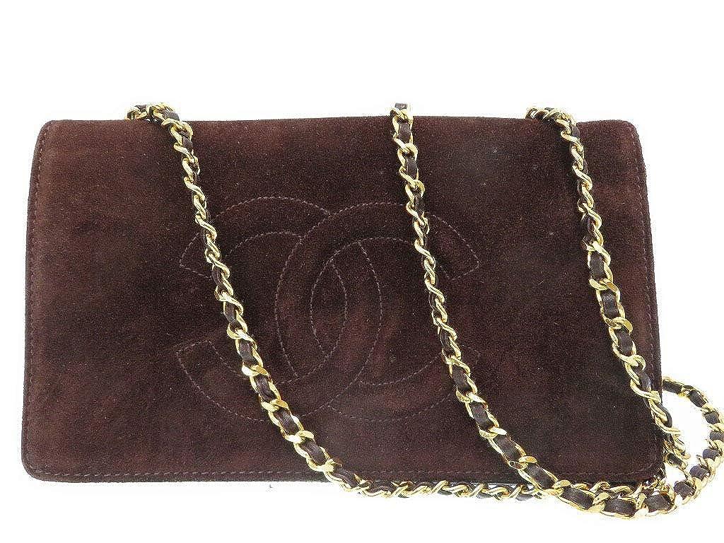 (シャネル)CHANEL チェーンウオレット 二つ折り財布 レザー レディース 0089 中古 B07MJKRRW2