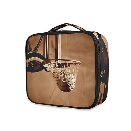 LUPINZ - Neceser de baloncesto con asa superior para cosméticos y ...