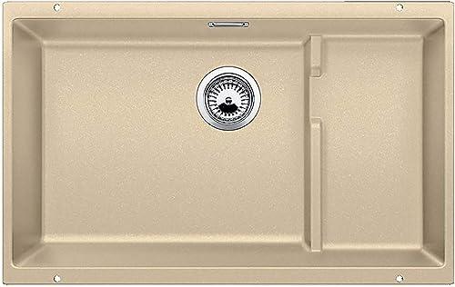 Blanco, Biscotti 519455 PRECIS Cascade SILGRANIT Single Bowl Undermount Kitchen Sink with Colander, w