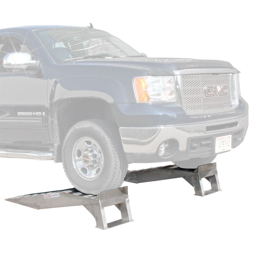 Pair of Aluminum Pickup Truck Wheel Riser Service Ramps