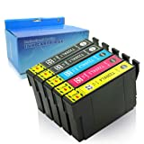 YRSINK 5Pack Generic Ink Cartridges High Yield Replacement for 220 220XL [2BK,1C,1M,1Y] Compatible with Epson XP-220, XP-320, XP-324, XP-420, WF-2630, WF-2650, WF-2660, WF-2750, WF-2760