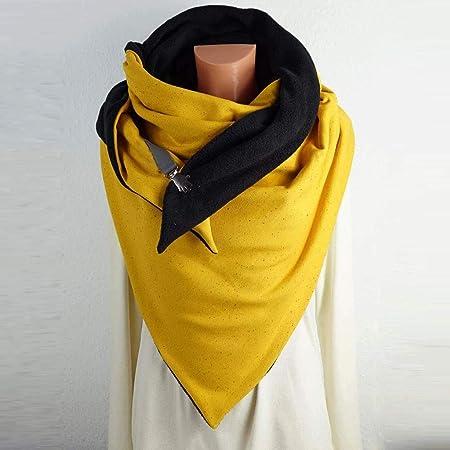 Solid Color Scarf Soft Warm Tartan Shawl Cape Blanket Scarves Fashion Wrap 1PC, Yellow