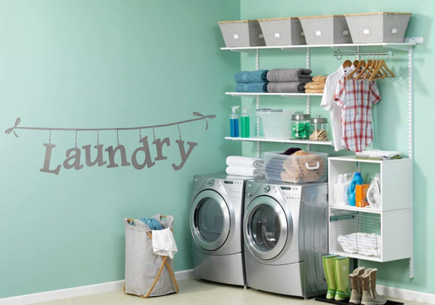 Amazon Com Diuangfoong Laundry Room Decor Laundry Room Wall Decals Laundry Room Wall Decor Clothesline Laundry Laundry Signs Laundry Room Signs Decals Home Kitchen