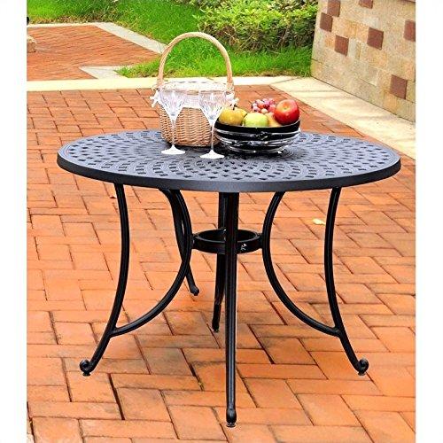 Crosley Furniture Sedona 42-inch Solid-Cast Aluminum Outdoor Dining Table - Black