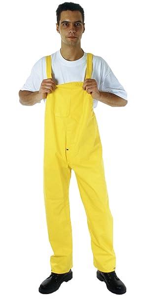 Arbeitshose Regenhose Überhose in Gelb Regenlatzhose u