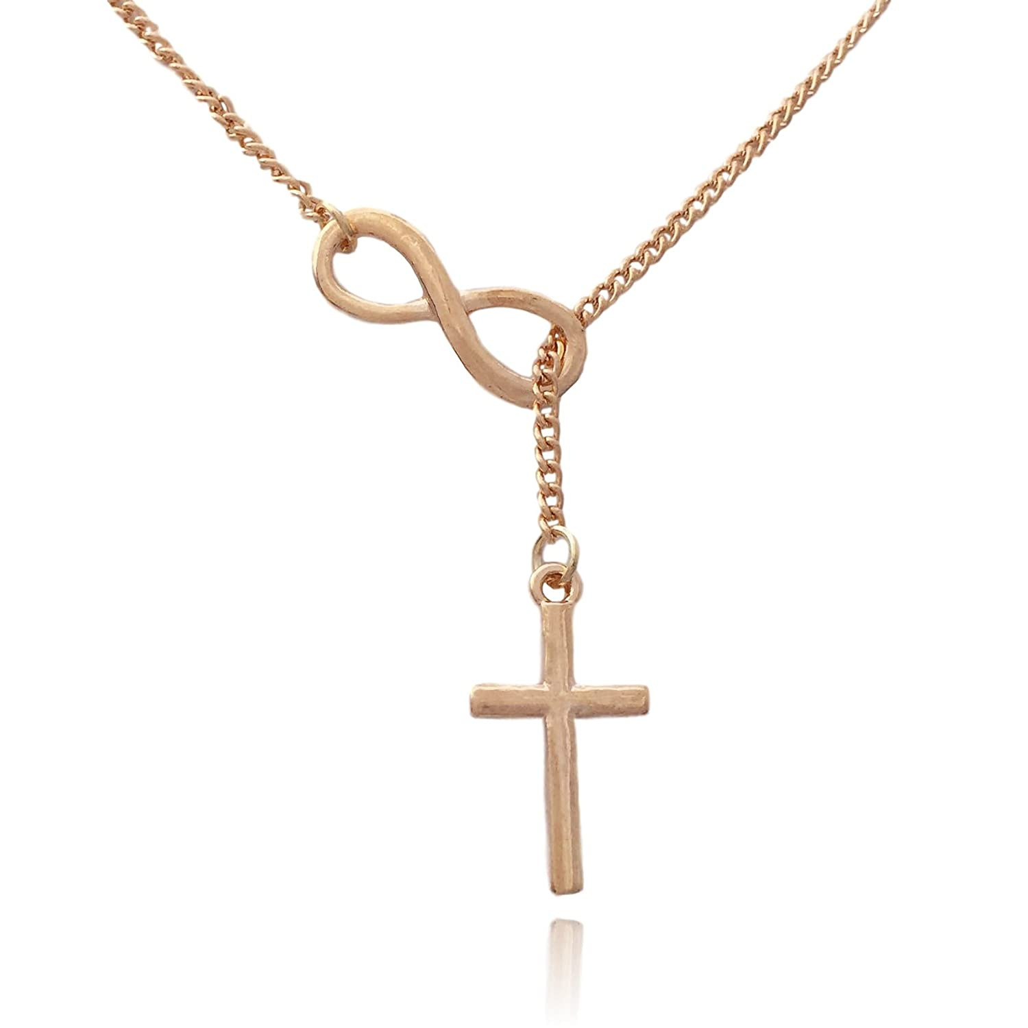 Clayton Jewelry COS (TM) Christian Cross with Infinity Symbol Necklace