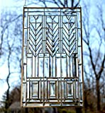 20'' x 34'' Tiffany Style stained glass Clear Beveled window panel
