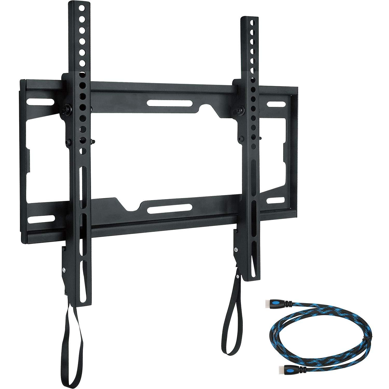 WALI Universal Tilting TV Wall Mount Bracket for Most 26-55 inch LED LCD Flat Screen TVs, VESA up to 400 x 400mm (TTM-1), Black
