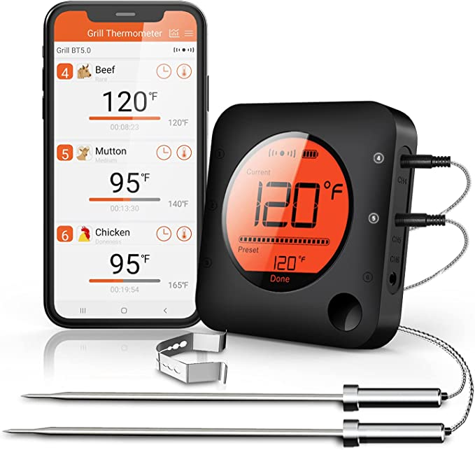 BFOUR Wireless Bluetooth Digital Meat Thermometer - Excellent Quality for The Price