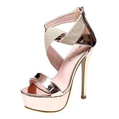 c31e95d35b58f Amazon.com: Womens High Heel Sandal,YEZIJIN Women Slip Pointed Toe ...