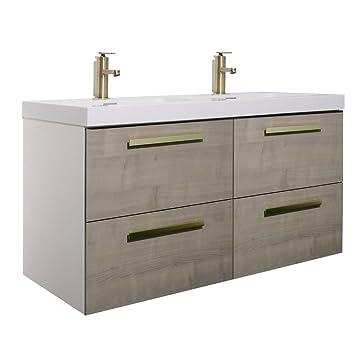 . Amazon com  Randalco 48  Maine Modern Bathroom Double Vanity Cabinet