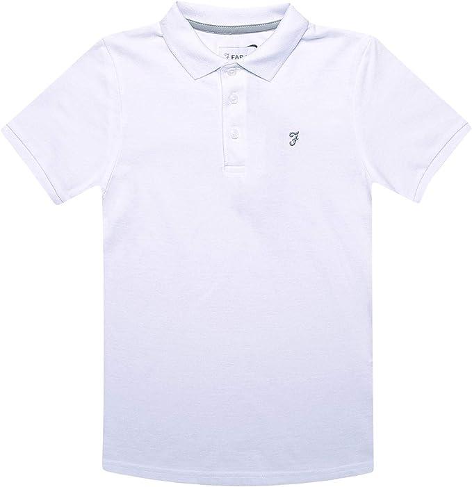 Farah Niños Polo Camiseta Blanca Edad 7 Años hasta 15 Años: Amazon.es: Ropa y accesorios