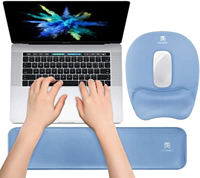 Wristband Mouse Mat Pad With Gel Foam Rest Wrist Support For PC Laptop Gaming