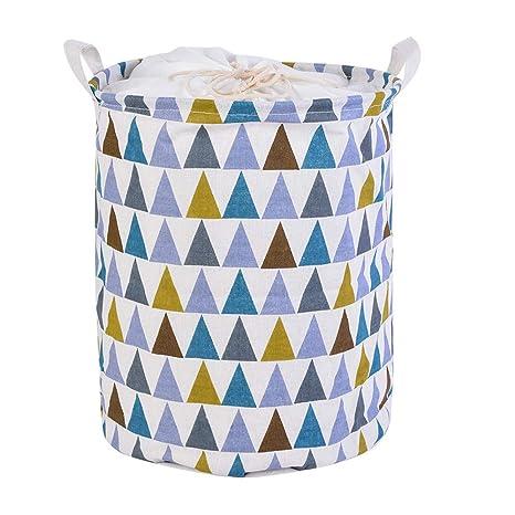 laamei Cesto para Guardar Ropa Sucia, Cestos Plegables con Tapa para la Colada Bolsa de Almacenamiento para Colada con Diseño Triángulo Cestas de ...