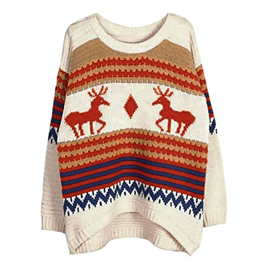 4d6cb0d30f1d Women Christmas Reindeer Snowman Santa and Snowflakes Sweater