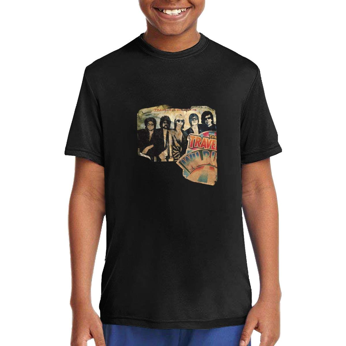 MoiqhHUswss The Traveling Wilburys Children T Shirts Short Sleeve Tees Boys Girls