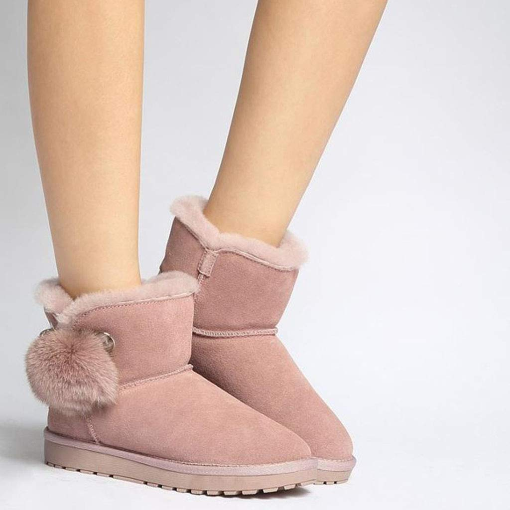 Botines Planos Botines Casuales Botines para Mujeres Botines Que Que Que se adaptan a Toda tu Ropa Calzado (Color : Marrón, Talla : 36) 557ff1