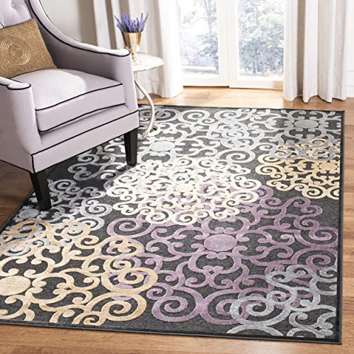 Safavieh Paradise Collection PAR102-330 Charcoal and Multi Viscose Area Rug (8' x 11'2