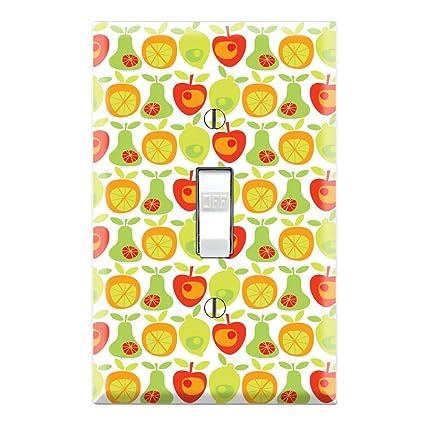 Fruit Pattern Decorative Single Toggle Light Switch Wall Plate