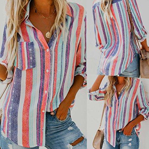 ❤ Blusa Mujeres Raya, Camiseta con Estampado de Manga Larga, Blusa sin Mangas Absolute: Amazon.es: Ropa y accesorios