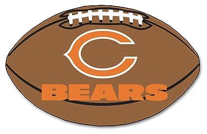 Chicago Bears Pigskin Decor Area Rug 21 X 30   Chicago Bears Home Decor