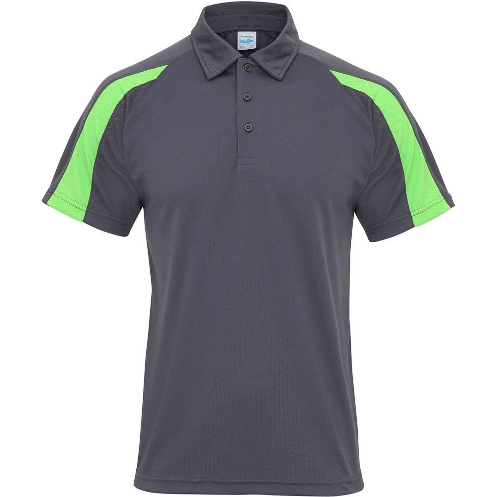 Awdis Cool Mens Contrast Cool Polo Shirt Grey Amazon Clothing