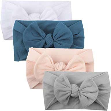 4X Kids Baby Girl Toddler Bowknot Headband Hair Band Headwear Accessories