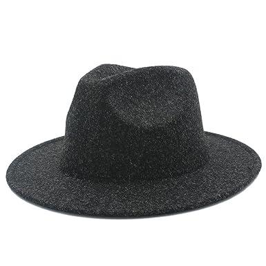 Sunny Baby Retro Wool Women s Wide Brim Fedora Hat Men s Jazz Church Cap  Panama Sombrero Felt Hat 8c887070f61b