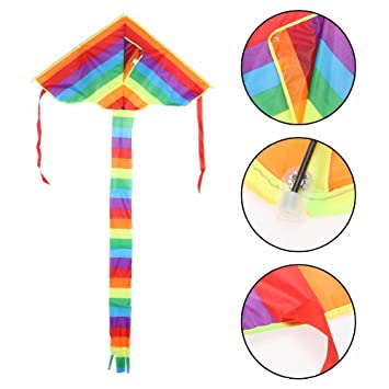 Amazon Com Rainbow Kite Without Flying Tools Outdoor Fun Sports