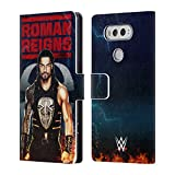 Official WWE LED Image 2017 Roman Reigns Leather Book Wallet Case Cover For LG V20