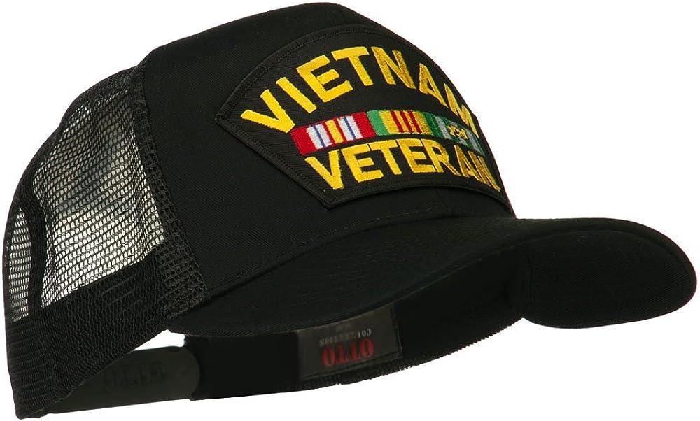 e4Hats.com Vietnam Veteran Military Patched Mesh Back Cap