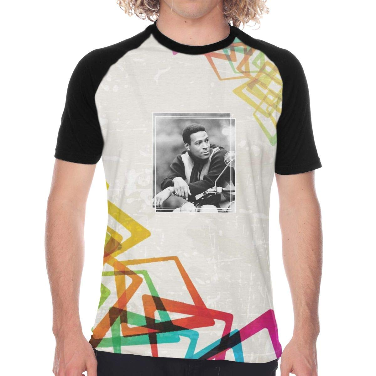FwadGacx Marvin Gaye Men Youth Stylish Short Sleeves Full Size Printed Baseball Tee Gift