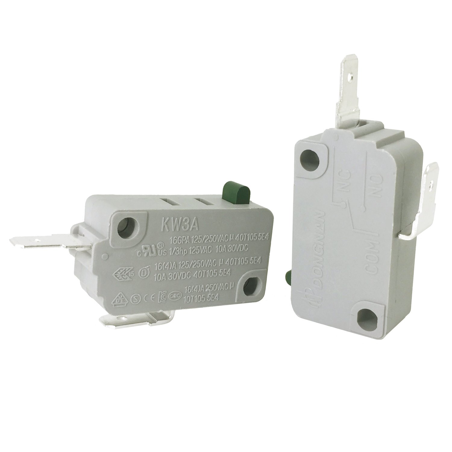YOLISTIC 2Pcs KW3A NORMALLY OPEN MICROWAVE OVEN DOOR MICRO SWITCH DR52